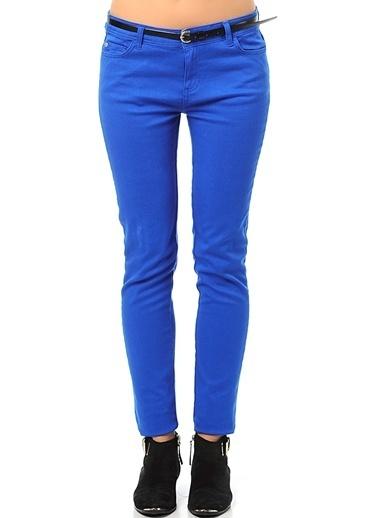 Asymmetry Slim Fit Pantolon Saks